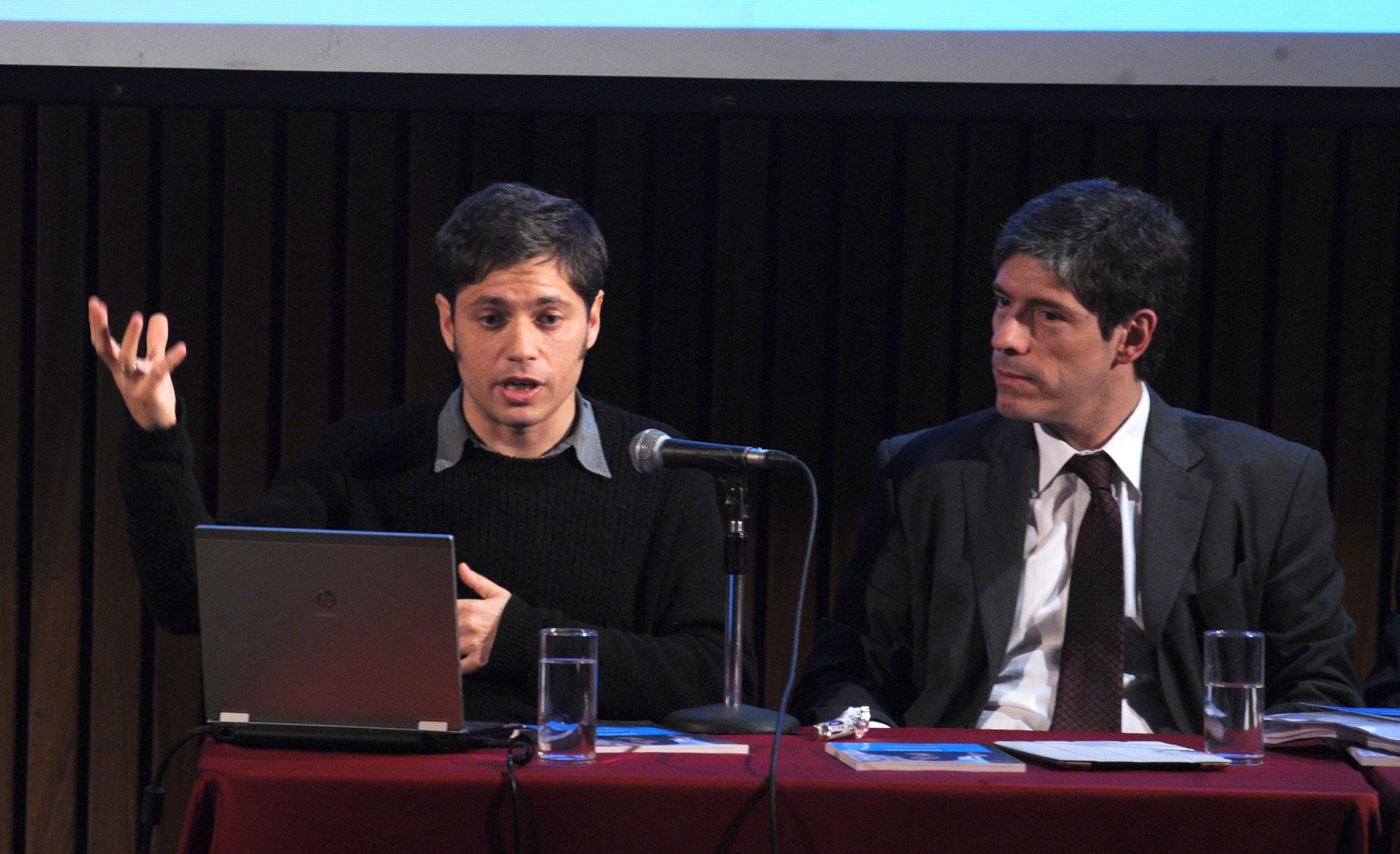 Abal Medina y Axel Kicillof