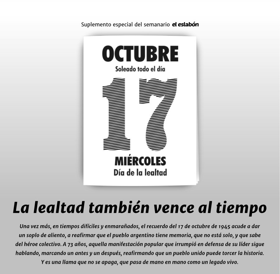 Suplemento especial 17 de octubre