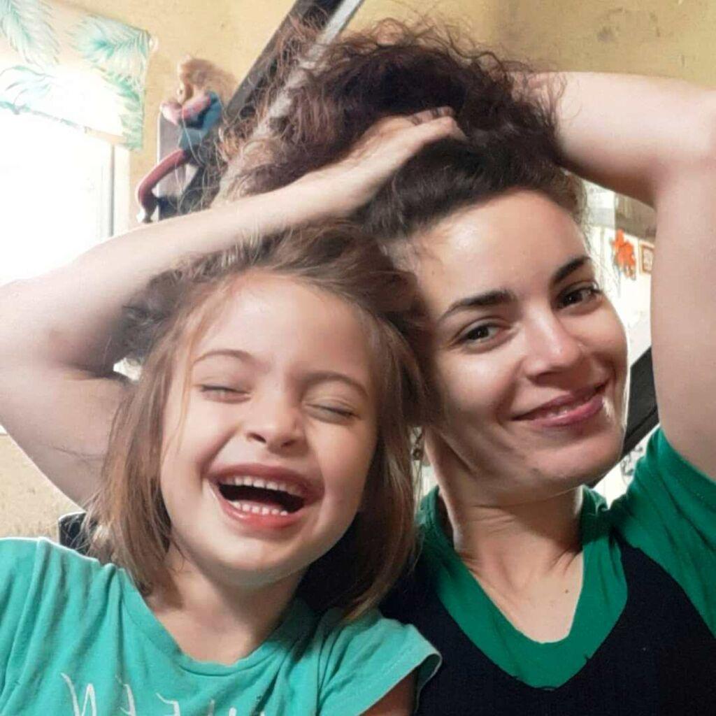 Sole y su hija Lucía.
