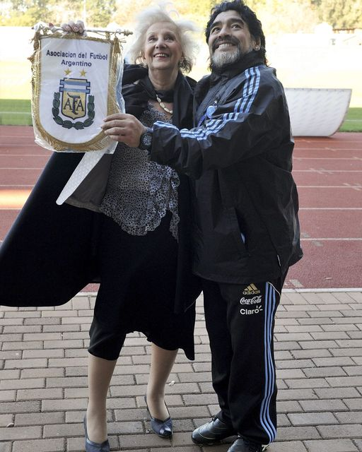 Diego con Estela Carlotto