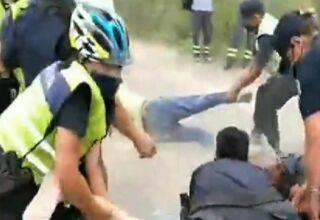 Represión a ambientalistas en San Nicolás