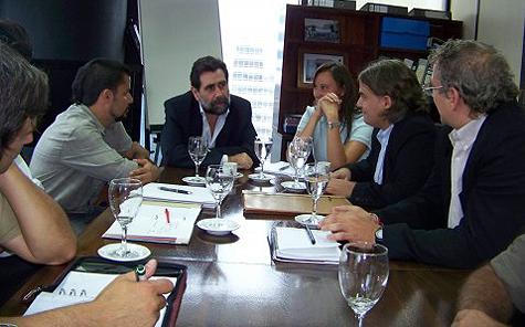 Reunión de Fadiccra con Enrique Deibe