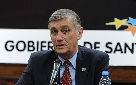 Hermes Binner fue criticado por diputados provinciales.