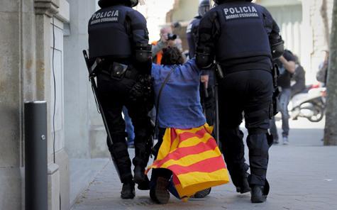 Huelga y represión en España
