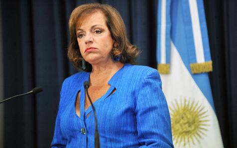 Ministra de Seguridad, Nilda Garré